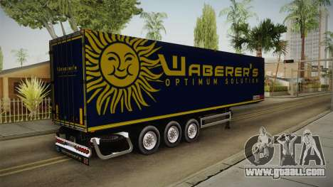 Waberers Trailer for GTA San Andreas back left view