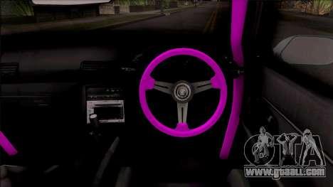 Nissan Skyline R32 Rocket Bunny v2 for GTA San Andreas inner view