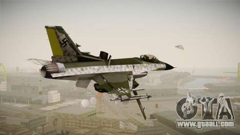 F-16A Luftwaffe WW2 for GTA San Andreas left view