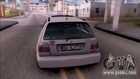Volkswagen Golf 3 GTI for GTA San Andreas back left view