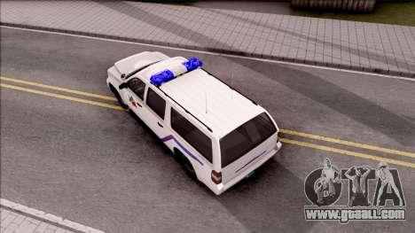 Declasse Granger Hometown PD 2012 for GTA San Andreas back view