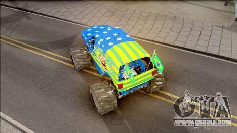 The Liberator Monster Car HueBr for GTA San Andreas back view