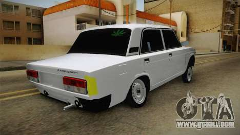 VAZ 2107 Aze Style for GTA San Andreas back left view
