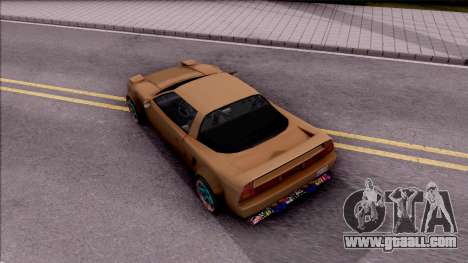 Infernus Tuning for GTA San Andreas back view