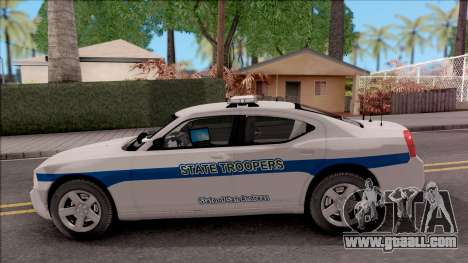 Dodge Charger San Andreas State Troopers 2010 for GTA San Andreas left view
