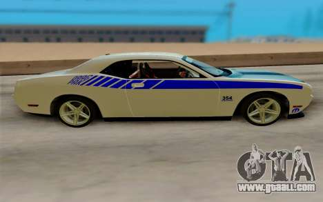 Dodge Challenger Drag Pak Supercharged for GTA San Andreas back left view