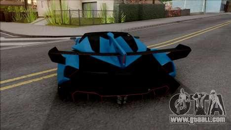 Lamborghini Veneno Roadster v.1 for GTA San Andreas back left view