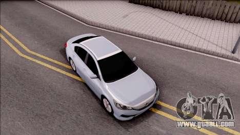 Honda Accord 2017 for GTA San Andreas right view