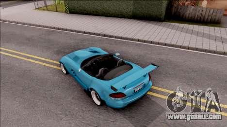 Dodge Viper SRT-10 Widebody 2003 for GTA San Andreas back view