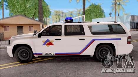 Declasse Granger Hometown PD 2012 for GTA San Andreas left view