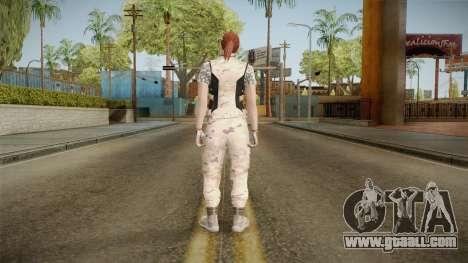 Gunrunning Female Skin v3 for GTA San Andreas third screenshot