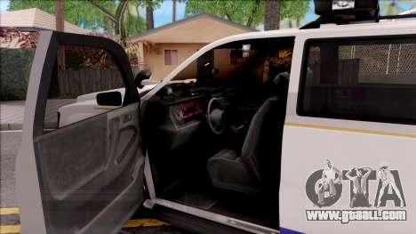 Declasse Granger Hometown PD 2012 for GTA San Andreas inner view