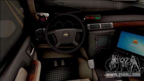 Chevrolet Tahoe Bayside Police Department 2010 for GTA San Andreas inner view