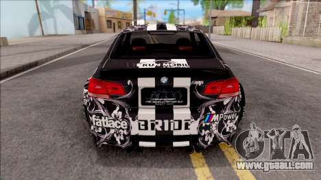 BMW M3 E92 2B of NieR: LB Performance for GTA San Andreas back left view