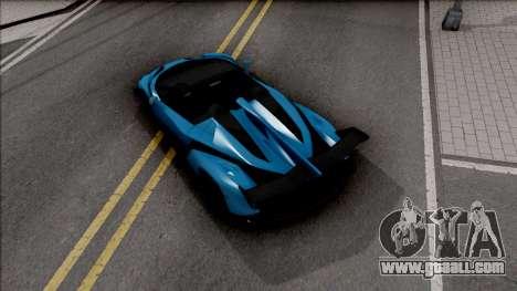 Lamborghini Veneno Roadster v.1 for GTA San Andreas back view
