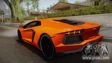 Lamborghini Aventador LP700-4 Stock for GTA San Andreas left view