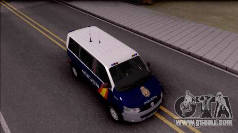 Volkswagen Transporter Spanish Police for GTA San Andreas right view