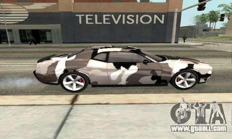 Dodge Challenger SRT for GTA San Andreas left view