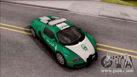 Bugatti Veyron Dubai High Speed Police for GTA San Andreas right view