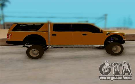 Ford F150 Raptor 4x4 Off-Road for GTA San Andreas left view