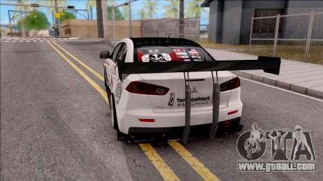 Mitsubishi Lancer Evolution X KC Itasha for GTA San Andreas back left view