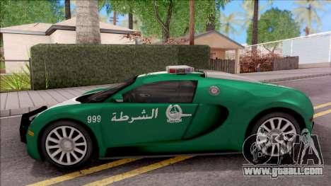 Bugatti Veyron Dubai High Speed Police for GTA San Andreas left view