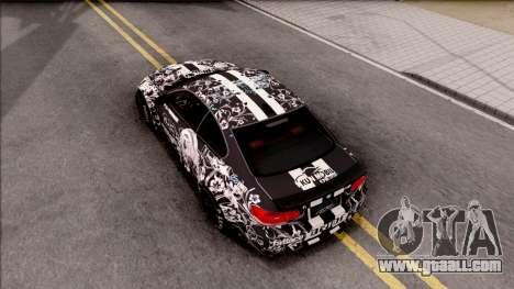 BMW M3 E92 2B of NieR: LB Performance for GTA San Andreas back view