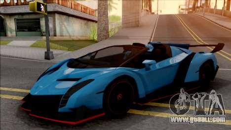 Lamborghini Veneno Roadster v.1 for GTA San Andreas