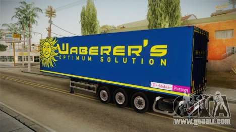 Waberers Trailer for GTA San Andreas left view