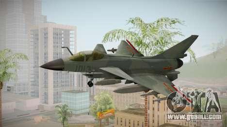 Chengdu J-10 Vigorous Dragon for GTA San Andreas back left view