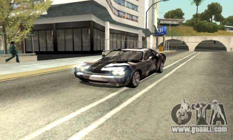 Dodge Challenger SRT for GTA San Andreas inner view
