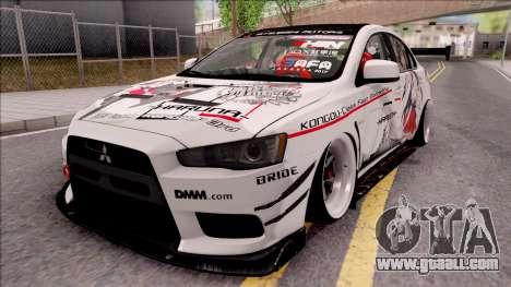 Mitsubishi Lancer Evolution X KC Itasha for GTA San Andreas