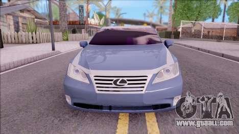 Lexus ES 350 2010 for GTA San Andreas inner view