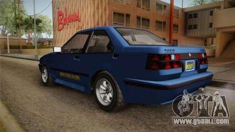 GTA 5 Karin Futo 4-doors IVF for GTA San Andreas back left view