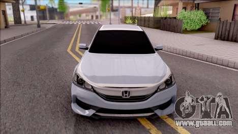 Honda Accord 2017 for GTA San Andreas inner view