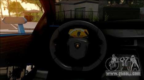Lamborghini Veneno Roadster v.1 for GTA San Andreas inner view