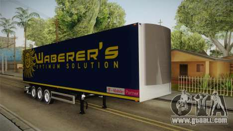 Waberers Trailer for GTA San Andreas right view