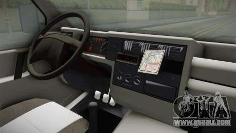 Volkswagen T4 1995 for GTA San Andreas inner view