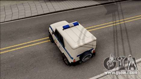 UAZ Hunter Police for GTA San Andreas back view
