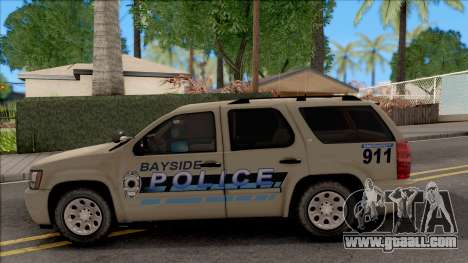 Chevrolet Tahoe Bayside Police Department 2010 for GTA San Andreas left view
