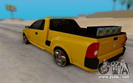 Chevrolet Montana for GTA San Andreas back left view
