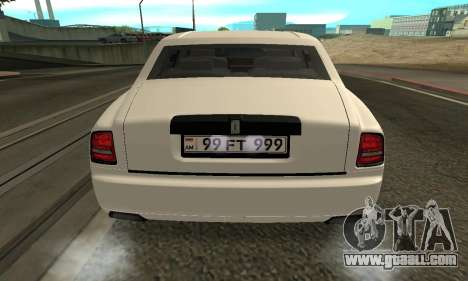 Rolls-Royce Ghost Armenian for GTA San Andreas right view