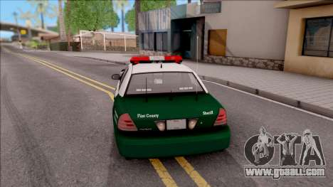 Ford Crown Victoria Flint County Sheriff 2010 for GTA San Andreas back left view