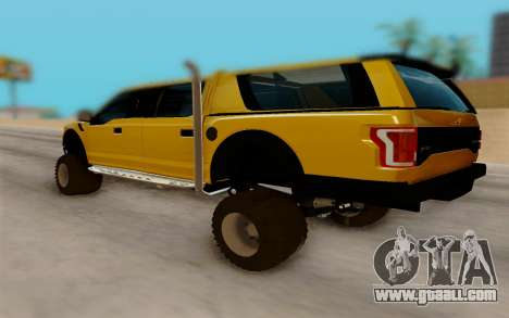 Ford F150 Raptor 4x4 Off-Road for GTA San Andreas back left view