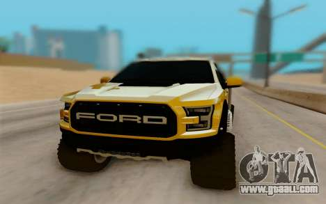 Ford F150 Raptor 4x4 Off-Road for GTA San Andreas back view