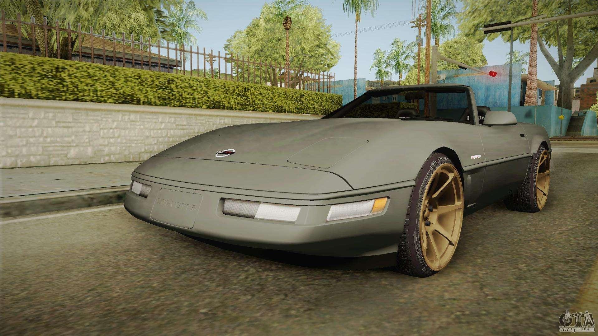 chevrolet corvette c4 cabrio drift 1996 for gta san andreas. Black Bedroom Furniture Sets. Home Design Ideas