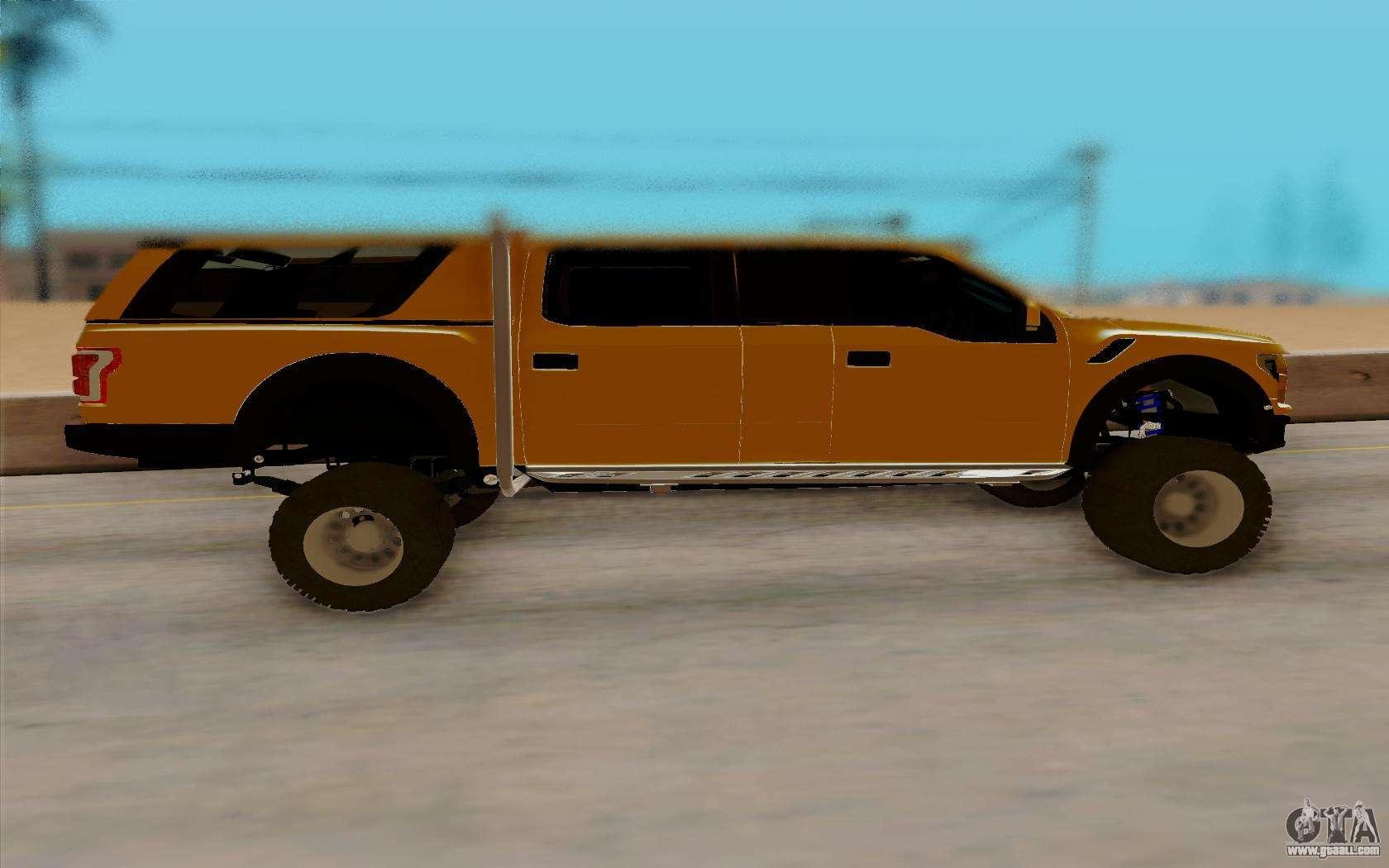 ford f150 raptor 4x4 off road for gta san andreas. Black Bedroom Furniture Sets. Home Design Ideas