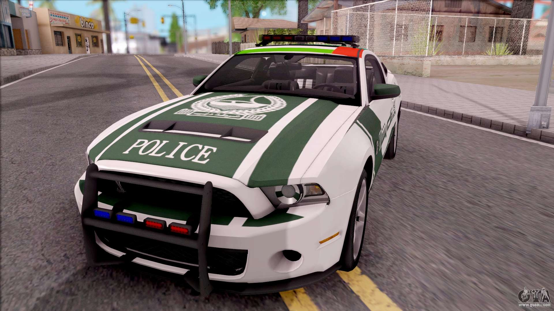ford mustang shelby gt500 dubai hs police for gta san andreas. Black Bedroom Furniture Sets. Home Design Ideas