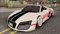 Audi R8 Spyder Angel Beats for GTA San Andreas