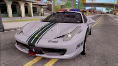Ferrari 458 Italia Dubai High Speed Police for GTA San Andreas